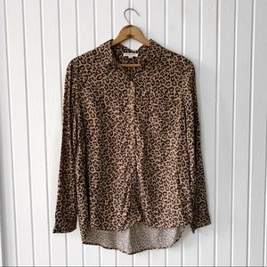 beachlunchlounge Cheetah Print Patterned Top